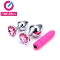 Yetişkin Günlüğü Paslanmaz Çelik Butt Plug Vajinal Bullet Vibratör Ürünleri Kadın Y191030 için Erotik Seks Oyuncakları Masaj Anal Plug Dildo Boncuklar