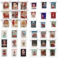 Рождество Сад Флаги Баннеры мультфильм шаблон Рождество Тема Две стороны животных Снеговик Patterns партия декора Флаг 36 стилей