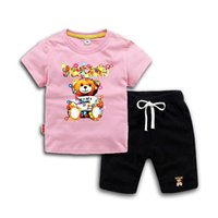 Summer Toddler Baby boys girls Clothing Sets Cartoon boys to...