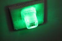 LED مزدوج USB شاحن حائط الشقوق نمط اللون متوهجة ضوء UP 5V 2A الصفحة الرئيسية السفر شحن محول الطاقة عن طريق DHL 100+