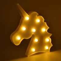Unicornio LED Night Lights Lampe de table de LED 3D Lampe à LED Novelty Lampe Lampe Luminaria bébé