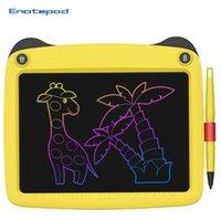 LCD الكتابة اللوحي 9 بوصة حماية الرسم اللوحي عيون الحبر خالية من الغبار وخالية من اللون الكتابة الذكية اللوحي ملاحظات 6 ألوان مع القلم ورفع مستواها