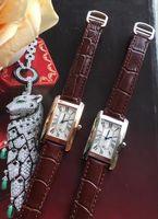 Роскошные часы мужчина женщина мода серебряный корпус белый циферблат часы кварцевый механизм платье часы кожаный ремешок 08-2