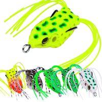 Горячая реалистичные лягушки мягкие пластиковые Лазерная рыбалка приманки 4.5 г 5 см плавающей стиль искусственные полые тела Blackfish приманки крюк