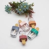Пустой мороженое розовый / зеленый блеск для губ трубка DIY бальзам для губ контейнер для жидкой косметической помады пластиковые бутылки для макияжа