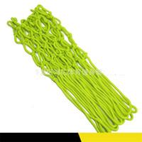 Rete da basket in nylon di dimensioni standard di ricambio per esterni Luminescenza di colore verde Rete da basket Vendita calda con alta qualità 13hd J1