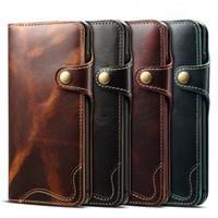 Для Samsung S10 Plus S10e S8 S9 Plus Note8 Note9 Real Подлинная кошелек кожаный чехол телефон сумка ретро Урожай откидная крышка с лентой