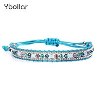 1pc Fashion Nylon Cord Woven Rice Beads Bracelets With Seed ...