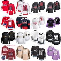 Nombre personalizado Fights Cancer Hockey sobre hielo 20 Lars Eller Jerseys Washington Capitales 9 Dmitry Orlov 6 Michal Kempny 33 Radko Gudas Alex Ovechkin