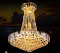 الفاخرة الذهبي كريستال الثريا ضوء درج ضوء led فلوش الثريا لماعة دي cristais بريق كريستال القطر 40 60 80 سنتيمتر llfa