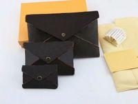 2019 Nuevo envío gratuito Diseñador bolsos de lujo monederos 3 juegos billeteras de marca Titular de la tarjeta Monederos Bolsa de almacenamiento de moda con caja Kirigami 62034