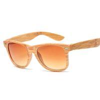 Men Women's Retro Hipster Square Wood Print Classic Driving Sunglasses Outdoor UV400 Glasses Elegant Vluar