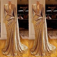 Sexy tiefe v-ausschnitt formale abendkleider 2020 design saudi arabische pailletten prom party kleid kleider robe de soiree sexy tiefe v-neck formal