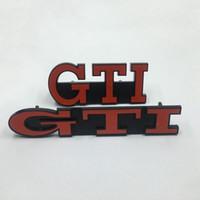 Araç Aksesuarları Ön Izgara Amblem 3D GTI Grill Rozet İçin Volkswagen VW Golf MK2 MK3 GTI