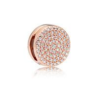 Autentico 925 Argento Pandora Reflexion Rose Dazzling Eleganza clip fascino clip si gioielli braccialetto europeo Pandora