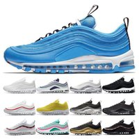 Nike air max 97 airmax 97  Nuovo Overbranding Blue Hero Scarpe da corsa per donna uomo Balck Metallic Gold South Triple White Scarpe da tennis senza sport UNDEFEATED