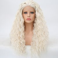 2018 Lace Front High Quality Synthetic hair Wigs Long Kinky ...