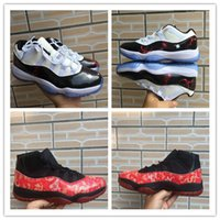 Retro Big Kids Mens 11s Concord 11 basketball shoes Red Drag...