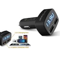 Yeni Çift USB Portları 3.1A Araç Çakmak Şarj 12 V / 24 V Dijital LED Voltmetre Ücretsiz Kargo