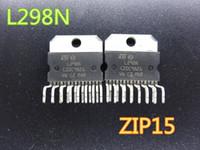 10pcs / lot Circuitos Integrados New L298N L298 ZIP15 Stepper chip de motor driver IC / driver ponte em frete grátis estoque