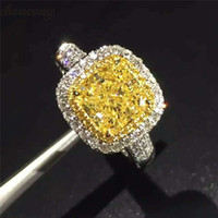 choucong Cushion cut Promise Ring 925 sterling silver 3ct diamante Fidanzamento Wedding Band Anelli per le donne gioielli da sposa