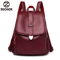 NEW Women Backpack high quality Leather Fashion school Backp...
