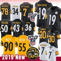 Jersey Steelers de Pittsburgh 19 Juju Smith-Schuster 90 T.J. Watt Bettis 55 Devin Bush Conner Polamalu 5 Ryan Shazier Roethlisberger Villanueva