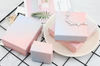 Neuinstag Mode Rosa Blau Gradienten Schmuck Verpackungsbox Ring Halskette Armband Empfangen Geschenk Mehrzweck Verpackungsbox WL665