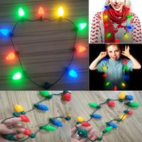 أدى تضيء لمبة عيد الميلاد قلادة للصغار والكبار سلسلة أضواء قلادة زينة عيد الميلاد عيد الميلاد حزب الحسنات WX9-1597