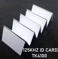 rfid 125KHz carte em PVC blanc pur carte de proximité carte d'identité étiquettes rfid 125KHz 1000Pcs TK4100 en lecture seule et ne peut pas write.Fast navire