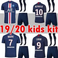 19 20 psg kids kit soccer jerseys maillot de foot home away ...