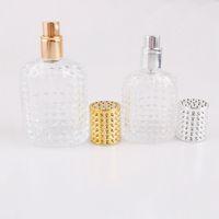 30ml 50ml botella de cristal del aerosol de perfume vacía Protable envases cosméticos del atomizador botella botellas de perfume para viajes HHAA988