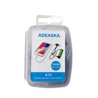 ADEASKA A10 Li-ion Piller için 18650 Pil Şarj İşlevli Manyetik USB Şarj Mini Şarj / Boşaltma Güç Bankası Epacket ücretsiz