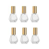8ml recarregáveis viagem vidro claro rolo Garrafa Essencial perfume Roll on frascos de cosméticos Container Jar Vial