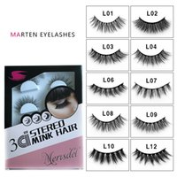 4 pairs Natural False Eyelashes Fake Lashes Long 3d Mink Las...