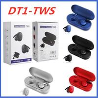Neueste DT-1 TWS Sport beweglicher Ladetasche Drahtlose Kopfhörer Bluetooth Kopfhörer Bunte Lauf Universal-Earbuds für HUAWEI iPhone