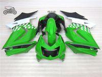 Инъекции АБС-пластик обтекатели комплект для Kawasaki Ninja 250R ZX250R ZX 250 2008-2014 EX250 08 09-14 зеленых комплектов мотоциклов тела обтекателя AB13