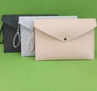 Felt File File Cartella Documenti Busta Office Valigetta Documento Borsa Carta Portafoglio Caso Lettera Busta A4 Cartelle Cartelle Forniture GGA3122-3