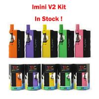 Authentic Imini V2 Kit 650mAh VV Variable Variable Tensión Precaliente Batería 510 Hilo 1.0ml Tank E Kits de cigarrillos gratis DHL 7 colores