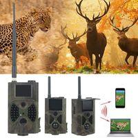 트랩 사진 카메라 HC-300M 1080P 사냥 추적 카메라 12MP GPRS MMS 적외선 나이트 비전 정찰