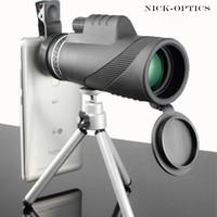 Монокуляр 40x60 Мощные бинокли высокого качества Увеличить Большой Ручной телескоп LLL ночного видения Военные HD Professional Охота