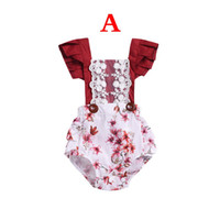 Newborn INFANT LACE Romper Infant Baby Girls Fly Sleeved Wav...