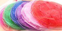 500 adet Daire Çapı: 26 cm Çok renkli Organze Takı Çanta Lüks Düğün Vual Hediye Çantası İpli Takı Ambalaj Noel Hediyesi Kılıfı