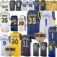ncaa 30 Curry Basketball Jerseys 35 Durant 1 Russell Draymon...