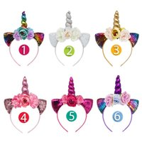 baby unicorn hair accessories girls cat ears headbands artif...