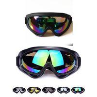 4 verres Couleur Noir Frame Lunettes de neige coupe-vent UV400 Moto Motoneige Ski Sport Protection Lunettes de sécurité