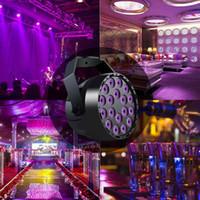 18 Вт из светодиодов номинальной 18LED УФ фиолетовый светодиодный свет этапа par света с DMX512 диско DJ проектор для этапа машина ну вечеринку украшения освещение