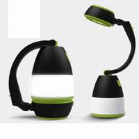 Lámparas de mesa multifuncional 3 en 1 LED de la tienda de la lámpara lámpara que acampa Luz de emergencia Inicio USB recargable portátil Linternas ZZA2336