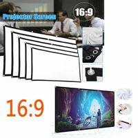 """الخيالة 9 3D HD الصفحة الرئيسية سينما أفلام مسرح في الهواء الطلق طوي الأبيض للحصول على الجدار: العارض LED شاشة العرض 16 - 60 المحمولة """"150"""""""