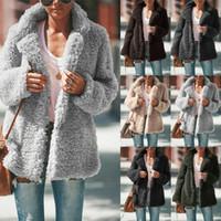 6 Цвет S-5XL Женская зима Медвежонок Руно Меха Пушистые пальто куртки Перемычка свитер Outwear 60315621275567
